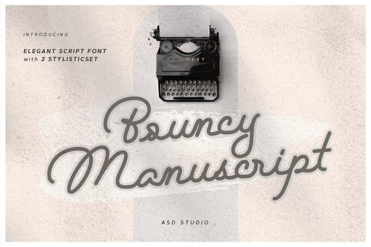 Bouncy Manuscript example image 1