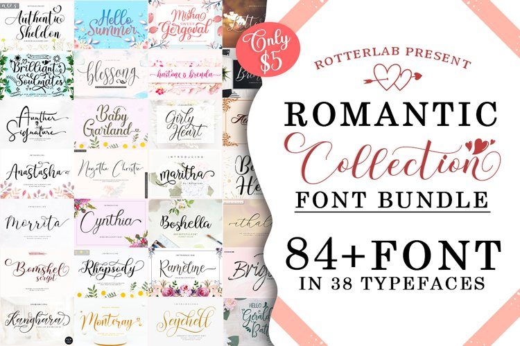 Romantic Collection Font Bundle example image 1