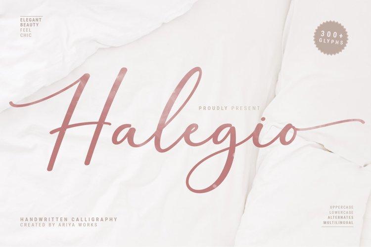 Halegio | Modern Calligraphy example image 1