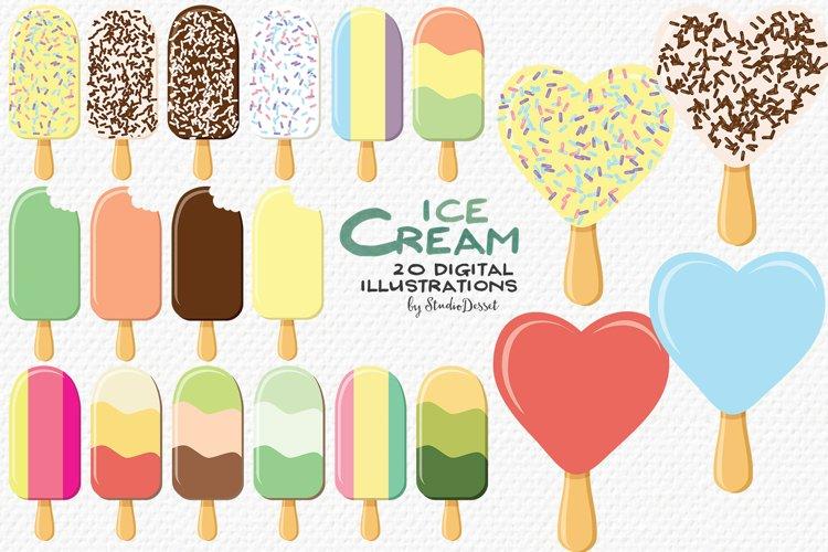 Ice Creams Cliparts   Summer Illustrations