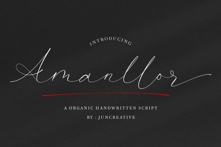 Amanllor Handwritten example image 1