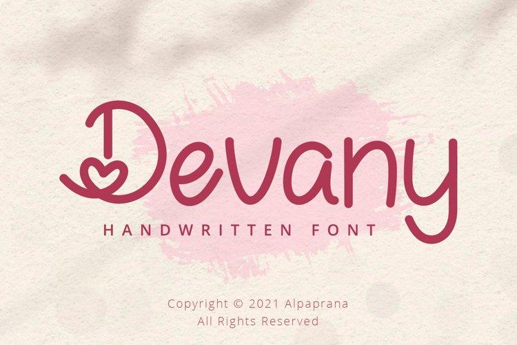 Devany - Handwritten Font example image 1