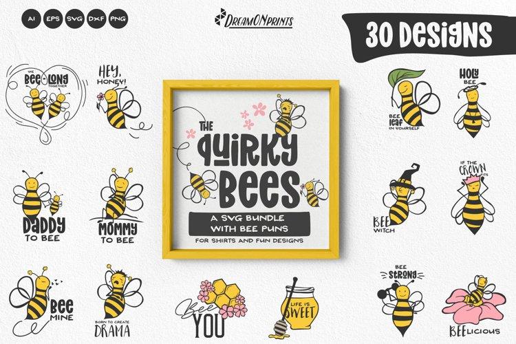 Bee SVG Bundle | Funny Bee Puns | Beehive SVG Bundle