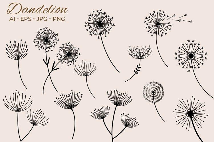 Doodle Dandelion Vector Clipart