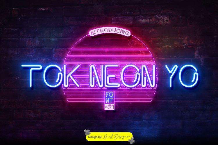 Tok Neon Yo Font example image 1