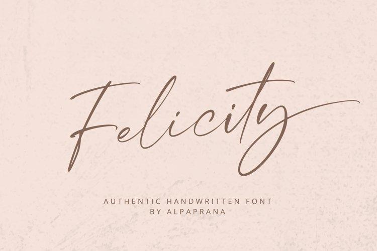 Felicity - Handwritten Font example image 1