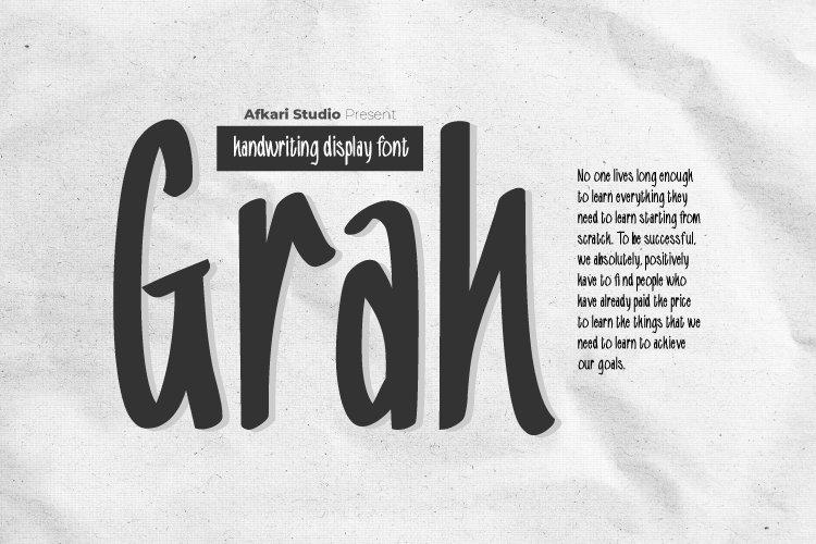 Grah Handrwitten Display Font example image 1