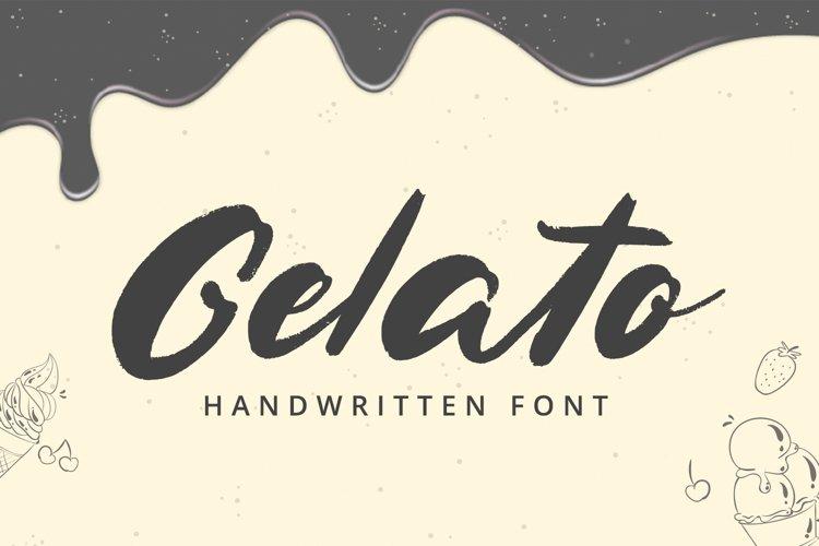 Gelato - Handwritten Font example image 1