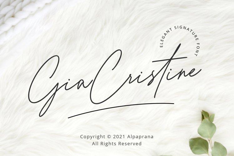 Gia Cristine - Elegant Signature Font example image 1