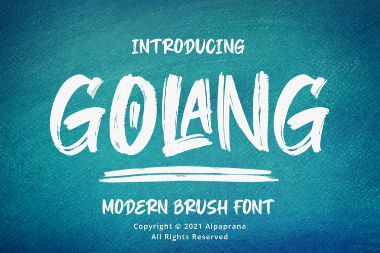 Golang - Modern Brush Font example image 1