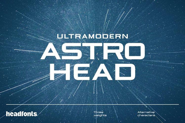 Astrohead geometric sans serif typeface example image 1