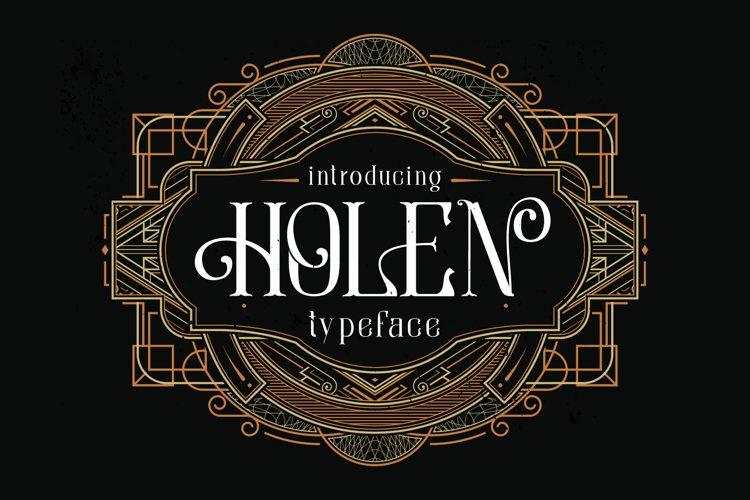 Holen Typeface example image 1