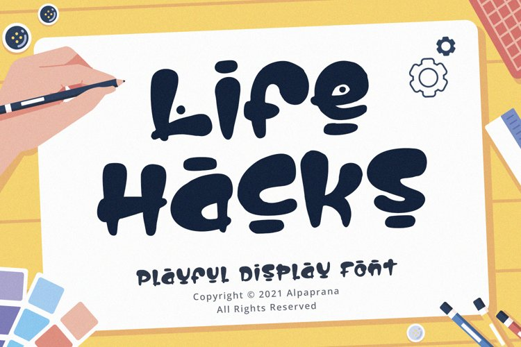 Life Hacks - Playful Display Font example image 1