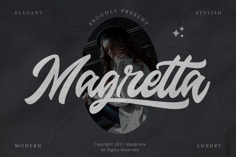 Magretta - Modern Script Font example image 1