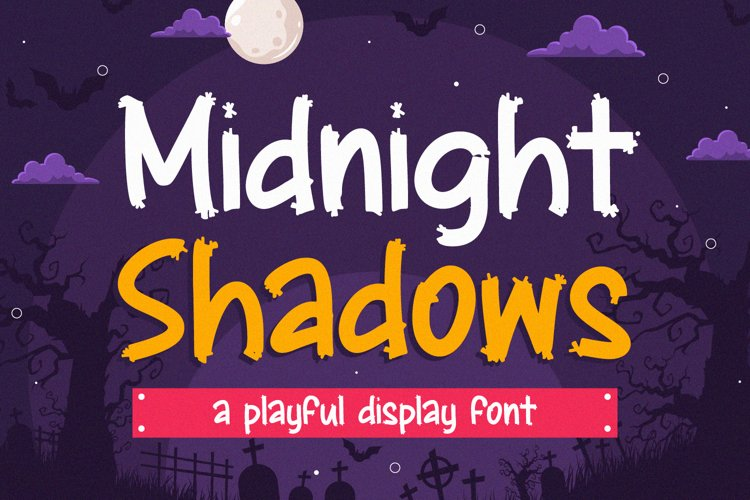 Midnight Shadows - Playful Display Font example image 1