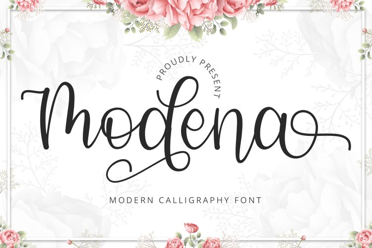 Modena - Modern Calligraphy Font example image 1