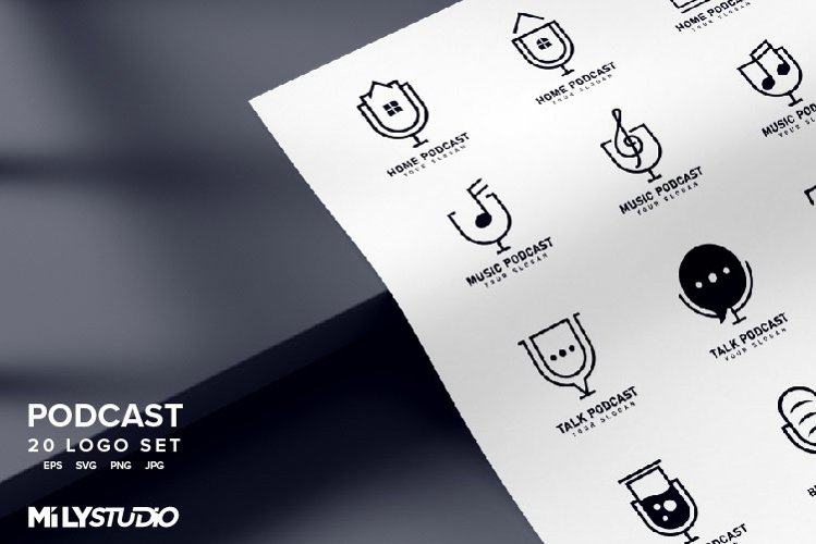 Podcast Logo Set