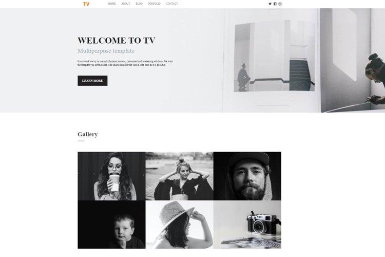 Minimal and Clean Portfolio HTML Website Template