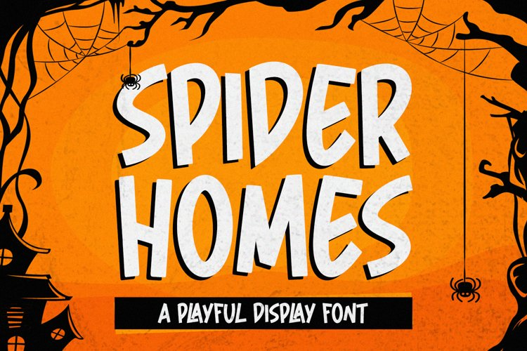 Spider Home - Playful Display Font example image 1