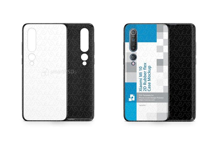 Xiaomi Mi 10 2020 2d Rubber Flex Case Design Mockup
