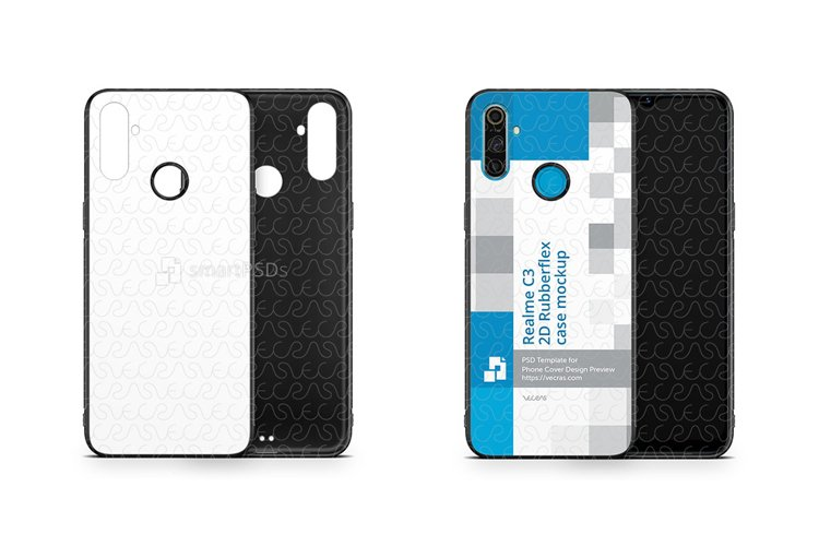 Realme C3 2020 2d Rubber Flex Case Design Mockup