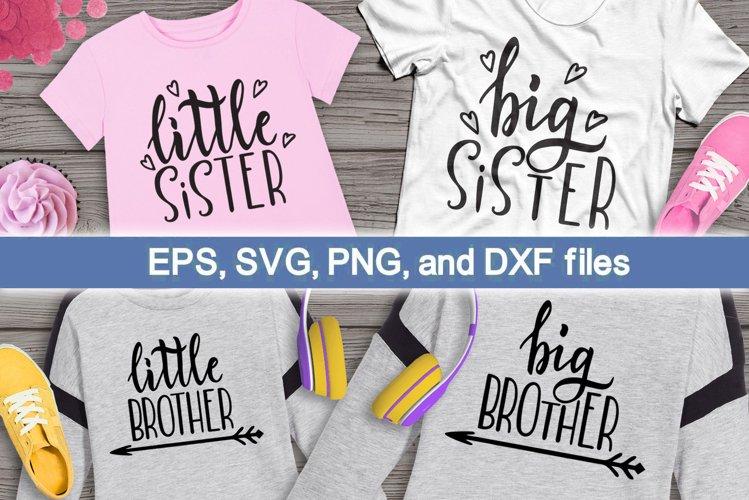 Big brother, little brother. Big sister, little sister. SVG