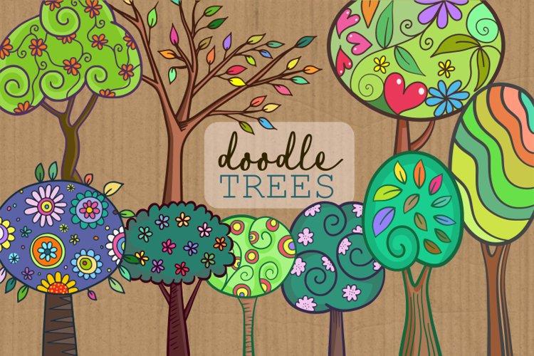 Doodle Folk Art Forest Trees