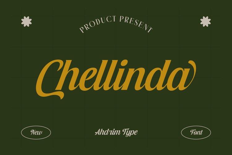 Chellinda Bold Script example image 1