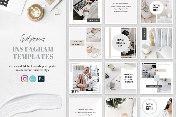 Business Instagram Templates for Canva
