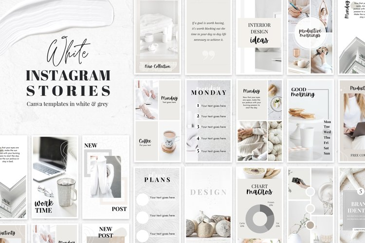 Instagram Story Canva Templates in White