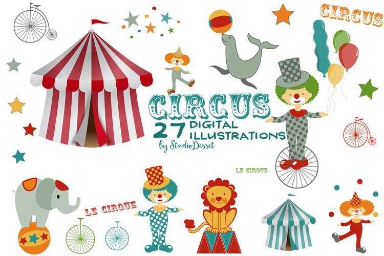 Circus Clipart Illustrations