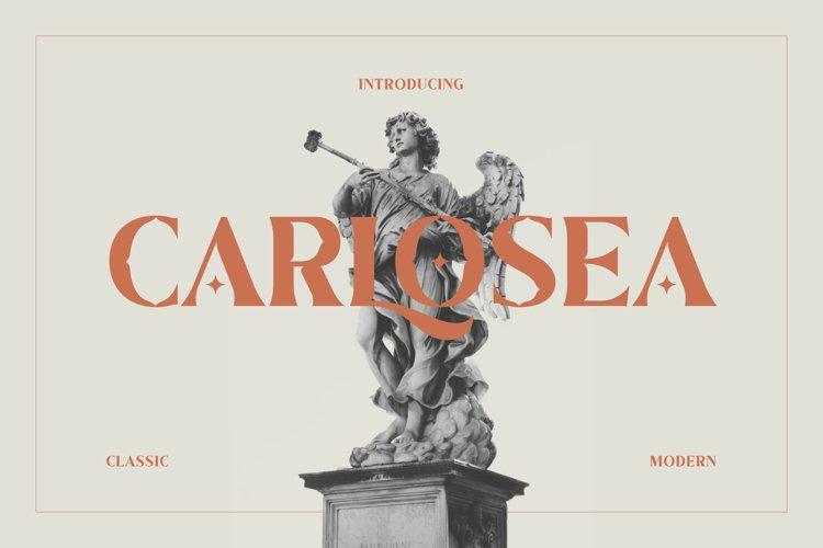 Carlosea Classic Serif example image 1