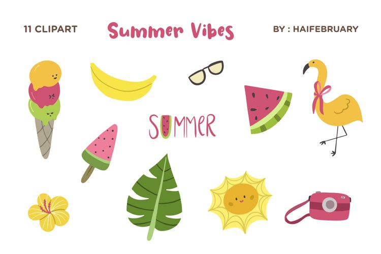 Summer Vibes Clipart Graphic