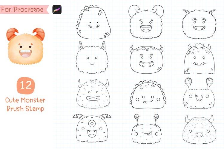 Procreate Brush Stamp Animal Faces.