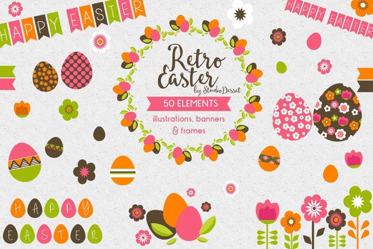 Retro Easter Cliparts   Happy Easter Clip Art