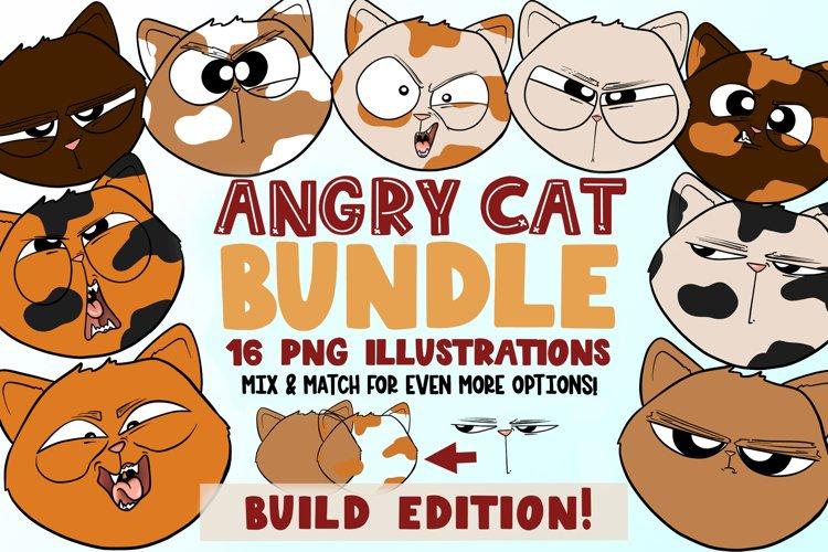 Angry Cat Bundle|Build Edition|Cat Clipart| Cat Illustration