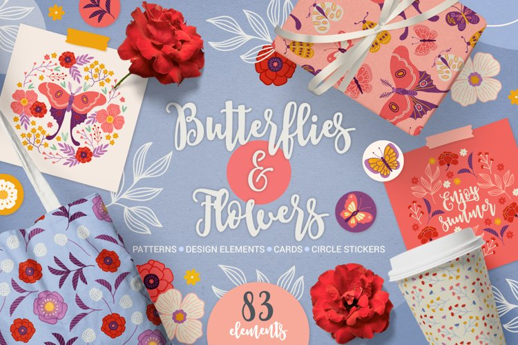 Butterflies & Flowers Kit