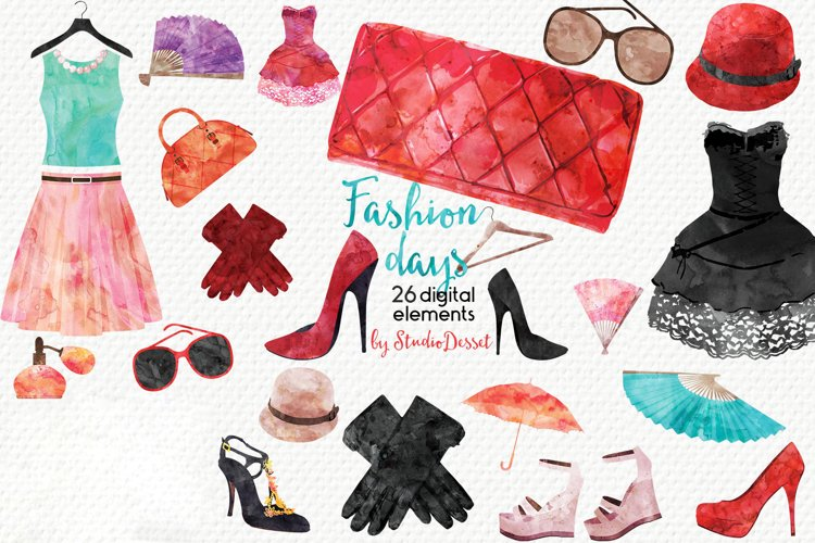 Fashion Days Watercolor Illustrations