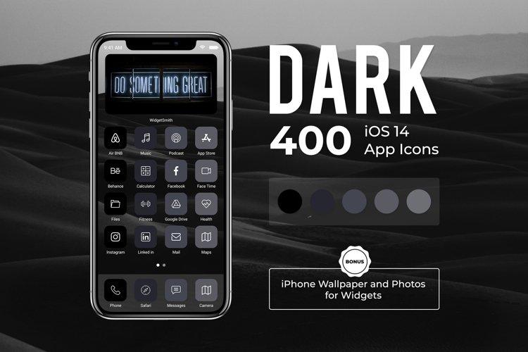 Dark iOS 14 App Icon Bundle for Aesthetic iOS Home Screen