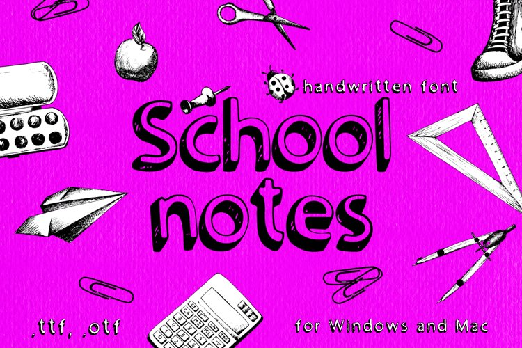 School notes example image 1