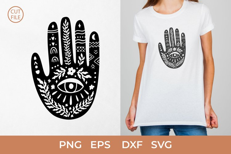 Boho hand SVG, Mystical Boho Hand SVG, Mystical hands PNG