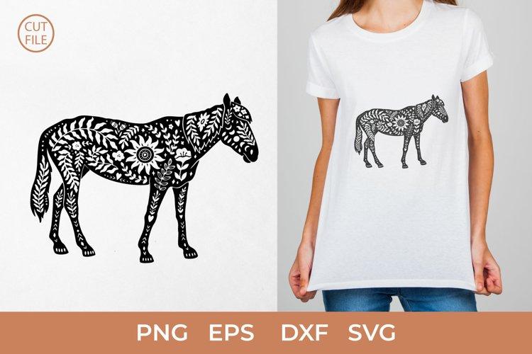 Boho Horse SVG, Boho Horse silhouette SVG, Floral Horse PNG