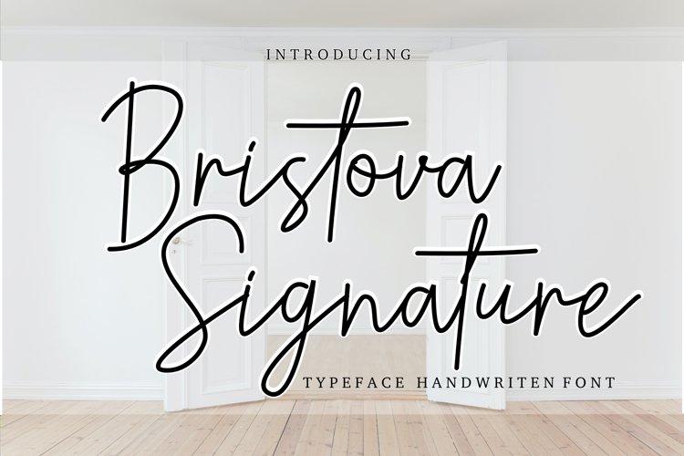 Bristova siganature font example image 1