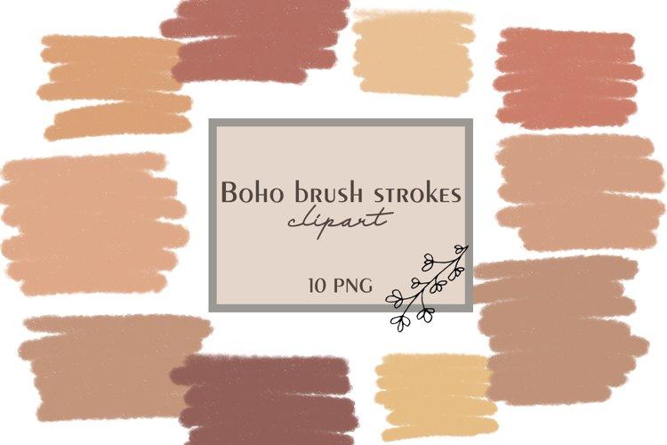 Boho brush strokes clipart, Brush strokes PNG, Boho clipart