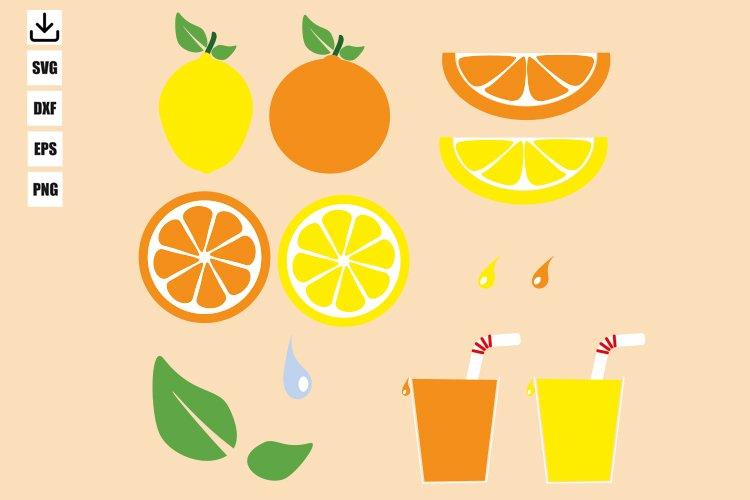 Lemon and orange bundle svg