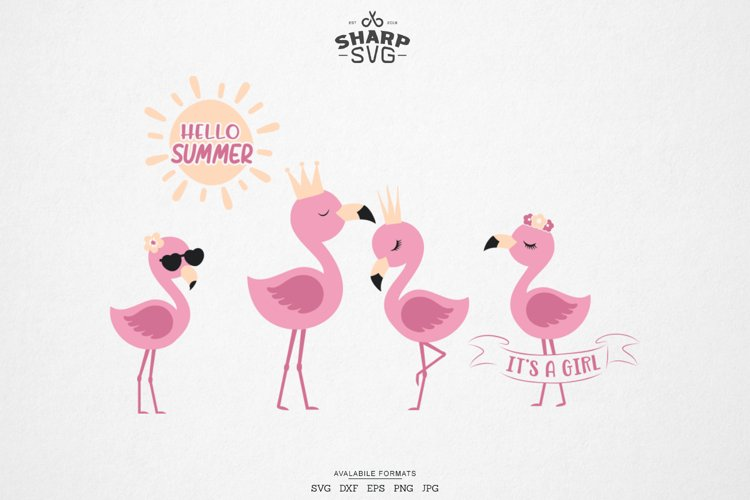 Flamingo SVG - Flamingo Bundle SVG - Cute Summer SVG