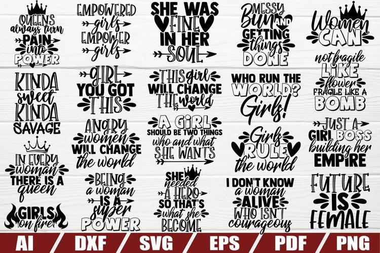 Girl Power SVG Bundle | Woman Sayings | Shirt |Funny Quotes