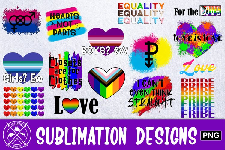 Pride Equality Sublimation Bundle example image 1