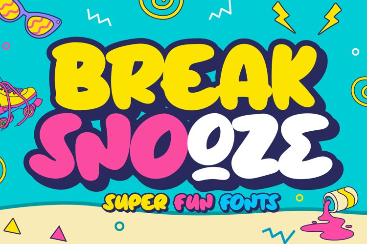 Break Snooze - Layered Fonts example image 1