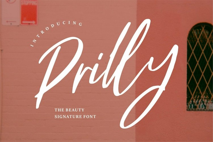 Web Font Prilly - The Beauty Signature Font example image 1